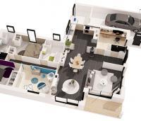 maison Bréva plan 3d Maisons de l'Atlantique