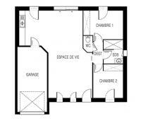 maison Simoun plan 2D Maisons de l'Atlantique
