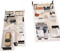 maison mousson plan 3D maisons de l'atlantique