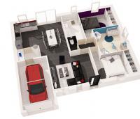 maison Atlantique - plan 3d -  Maisons de l'Atlantique