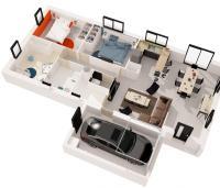 maison galerne plan 3d Maisons de l'Atlantique