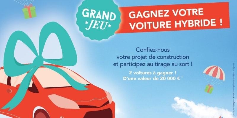 Jeu concours gagner sa voiture hybride | Constructeur de maisons Loire Atlantique