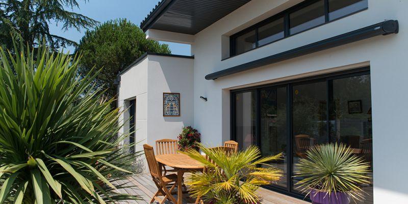 terrasse maison construction neuve