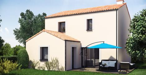 Maison Kuban à étage 3 chambres | Constructeur de maisons individuelles Loire Atlantique | 44