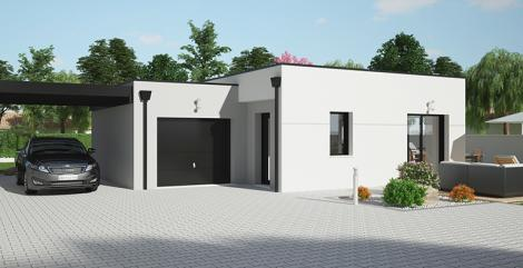 Maison plain-pied contemporaine | Constructeur 44 Maisons de l'Atlantique
