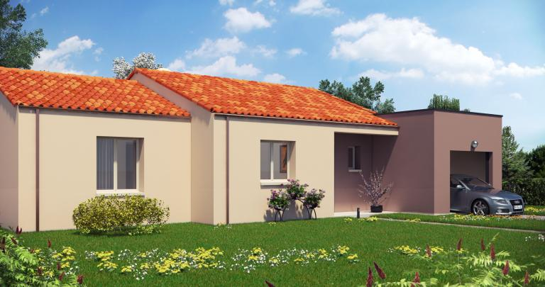 Constructeur maison neuve Loire Atlantique | Maison plain-pied toit plat Pampero
