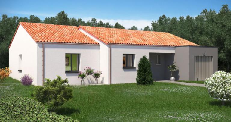 Constructeur maison neuve Loire Atlantique | Maison plain-pied 4 chambres Pampero