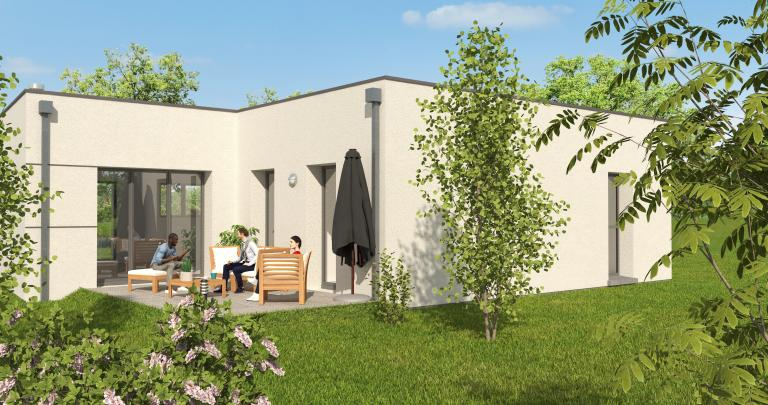 Constructeur maison moderne Loire Atlantique | Maison 3 chambres toit plat