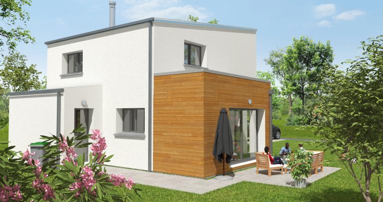 Constructeur maison individuelle Loire Atlantique | Maison moderne 3 chambres | Toit terrasse