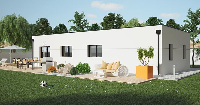 Maison Maloja toit contemporain | Constructeur 44 Maisons de l'Atlantique