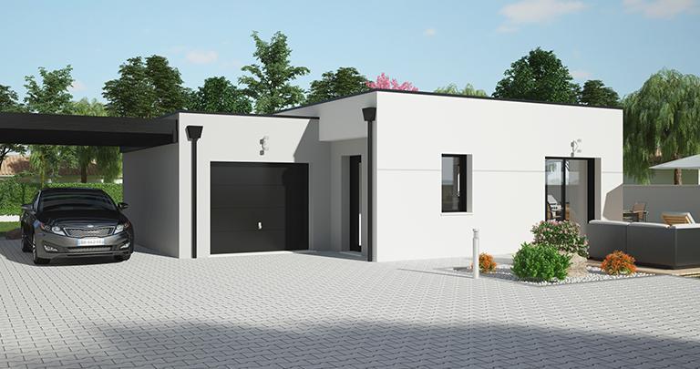 Maison Maloja toit plat | Constructeur 44 Maisons de l'Atlantique