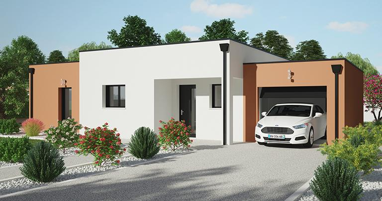 Maison moderne Tramontane toit plat | Constructeur 44 Maisons de l'Atlantique