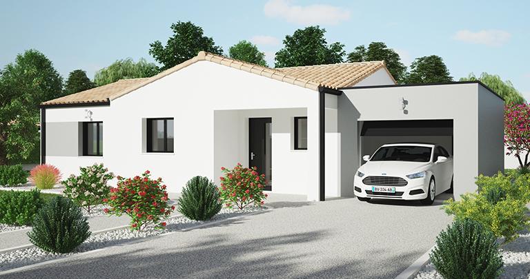 Maison moderne Tramontane plain-pied | Constructeur 44 Maisons de l'Atlantique