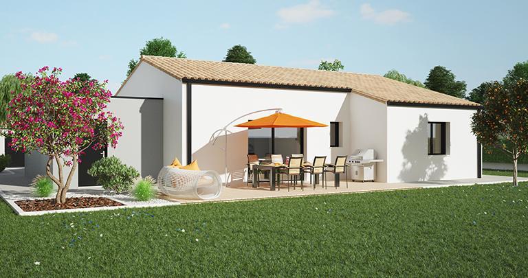 Maison moderne Tramontane toit tuile | Constructeur 44 Maisons de l'Atlantique