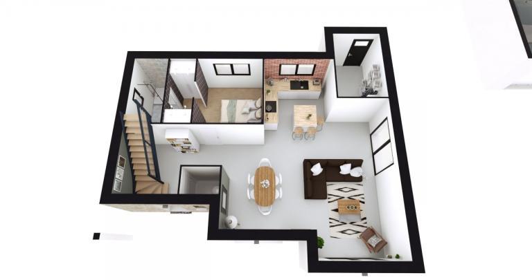 Construction maison à étage 44