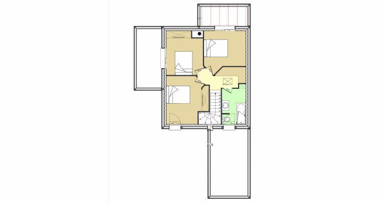 Constructeur maison moderne Loire Atlantique | Plan maison 3 chambres 93 m²
