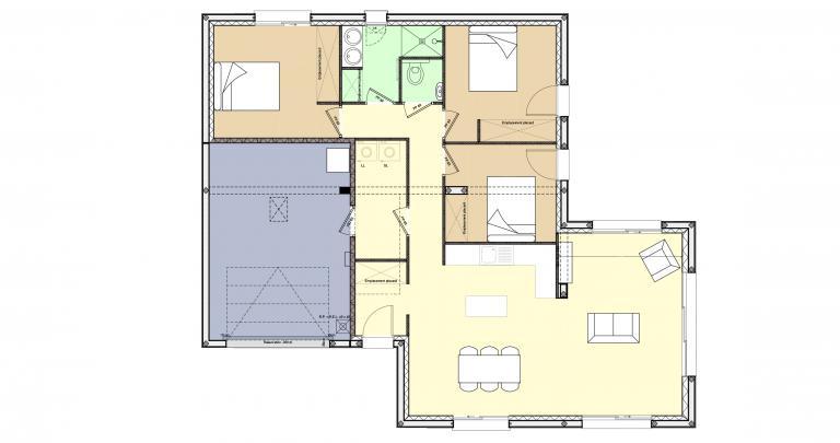 Constructeur maison individuelle Loire Atlantique | Plan Maison 3 chambres