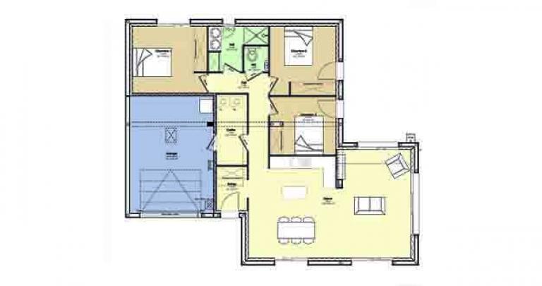 Constructeur maison traditionnelle Loire Atlantique | Plan maison 3 chambres