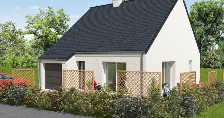 Constructeur maison individuelle Loire Atlantique | Modèle Chergui | Maison 2 chambres