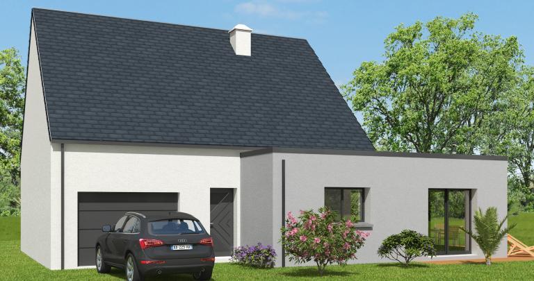 Constructeur maison individuelle Loire Atlantique | Maison 3 chambres | Toit ardoise