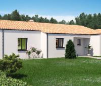 Constructeur maison neuve Loire Atlantique | Maison plain-pied toit tuile Pampero
