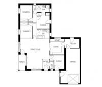 maison Bréva plan 2d Maisons de l'Atlantique