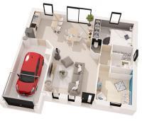 maison Simoun plan 3D  Maisons de l'Atlantique