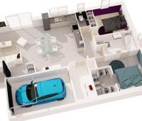 maison suroit plan 3D Maisons de Constructeur maison moderne Loire Atlantique | Plan 3D maison 2 chambres