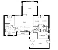 maison Solaire plan 2D maisons de l'atlantique