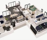 maison Solaire plan 3D maisons de l'atlantique