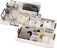 maison marin plan 3DMaisons de l'Atlantique