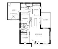 maison midi plan 2D Maisons de l'Atlantique