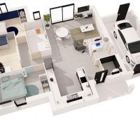 Maison plain-pied Tivano plan 3D | Maisons de l'Atlantique