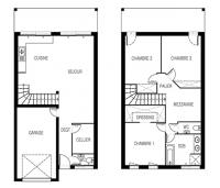 maison mousson plan 2D maisons de l'atlantique